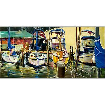 Segelboote Yacht Club Indoor oder Outdoor Runner Matte 28 x 58