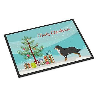 Bernese Mountain Dog Merry Christmas Tree Indoor or Outdoor Mat 18x27