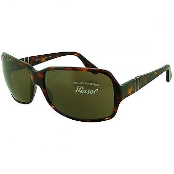 Persol Persol Ladies Havana Oversized Rectangular Sunglasses With Flexi Stem And Bronze Tinted Lenses