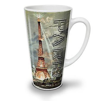 Lekkie miejskich Eiffel nowy Biała herbata kawa Latte ceramiczny kubek 17 oz | Wellcoda