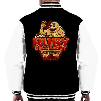 Gorons Ruby Rock Candy Legend Of Zelda menn Varsity jakke