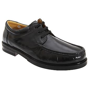 Roamers Mens Padded Softie Leather Moccasin Type Shoes