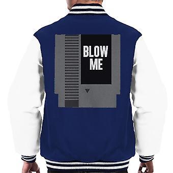 NES Cartridge Blow Me Men's Varsity Jacket