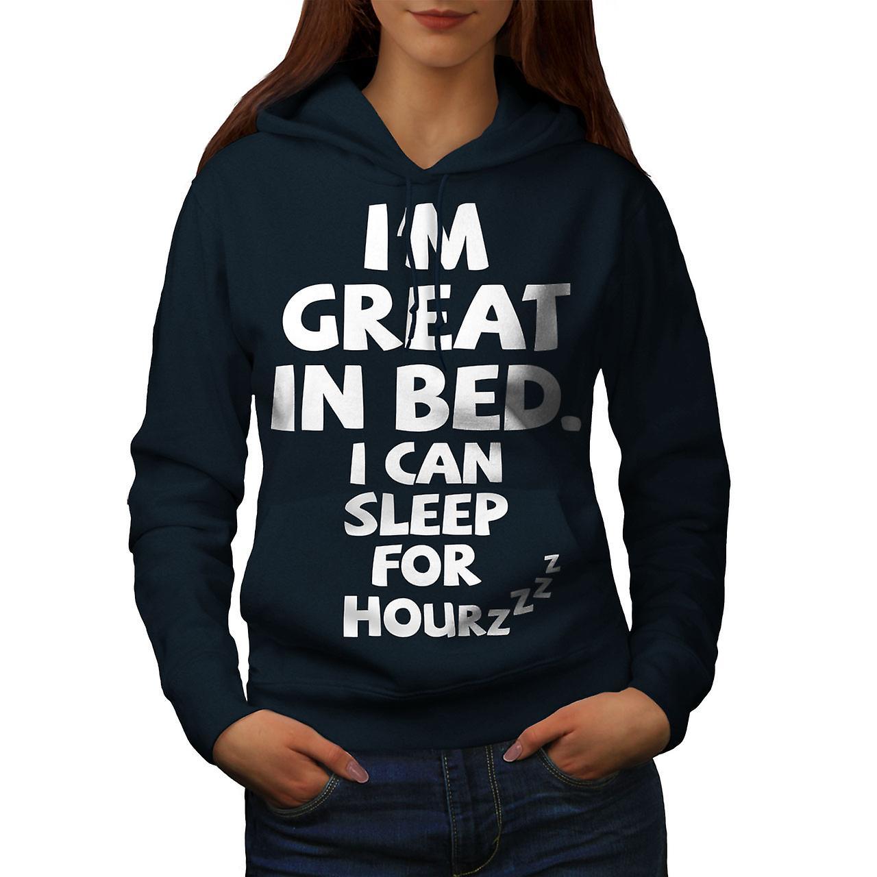 Dormir sieste paresseuse blague drôle femmes NavyHoodie