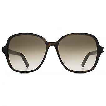 Saint Laurent Classic 8 Sunglasses In Havana Brown