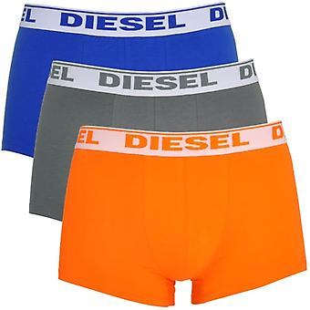 DIESEL Fresh And Bright UMBX-Shawn 3-Pack Boxer Orange / Grey / Blue, Large