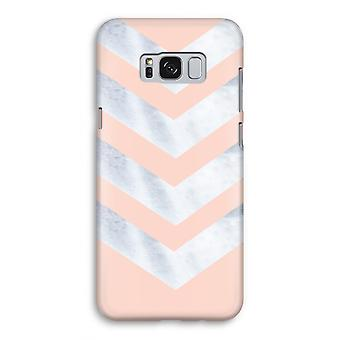 Samsung Galaxy S8 Full Print Case - Marble arrows