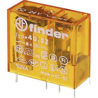 PCB relays 24 Vac 8 A 2 change-overs Finder 40.52.