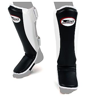 Twins Special Super Slim Padded Shin Guards - Black-White