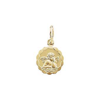 14 k gult guld ängel hängande 12mm -.7 gram