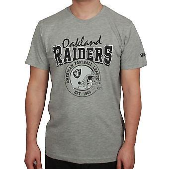 T-shirt de Script de Nova Era para 90 ~ Oakland Raiders