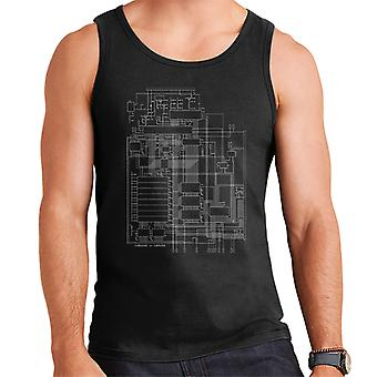 Commodore 64 Computer Schematic Men's Vest