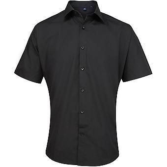 Premier Mens Supreme Poplin Short Sleeve Formal Corporate Shirt