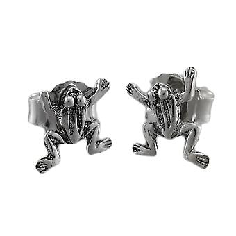 Kleine zilveren klimmen Frog Earrings Stud Earrings