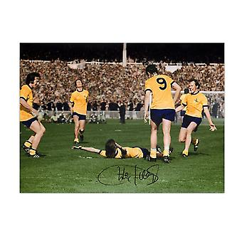 Charlie George Signed Arsenal 1971 FA Cup Final Photo