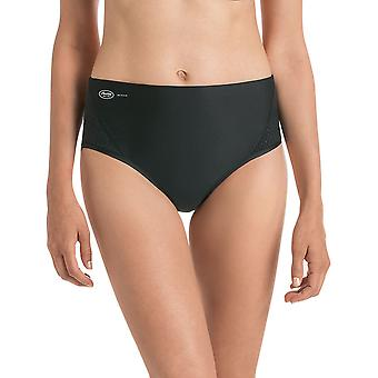 Anita 1629-001 Women's Active Black Solid Colour Highwaist Brief