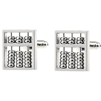 Bassin and Brown Abacus Cufflinks - Silver