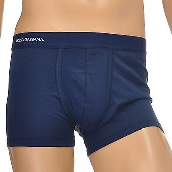 Dolce & Gabbana Pure Cotton Regular Boxer, Dark Blue, Medium