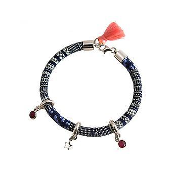 Ladies - earrings - 925 - AZTEC - STAR - Star - Ruby - Red