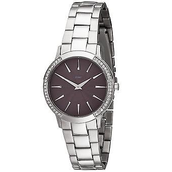 JOBO damer wrist watch kvarts analog rustfrit stål med krystal element Dameur