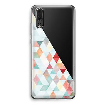 Huawei P20 Transparent Case - Coloured triangles pastel