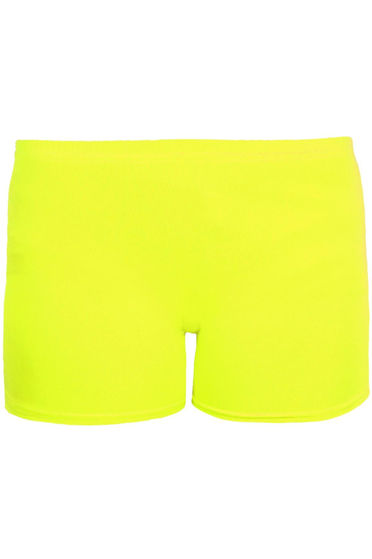 Girls Cotton Lycra Stretch Gym Gymastics Dance Children's Neon Hot Pants Shorts