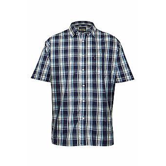 Champion Mens Newmarket Casual Short Sleeve Shirt-Navy-Medium-Max 43