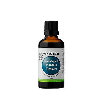 Viridian Plantain Tincture 100% Organic,  50ml