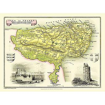Map of Isle Of Thanet 1836 by Thomas Moule 1000 Piece Jigsaw Puzzle (jhg)