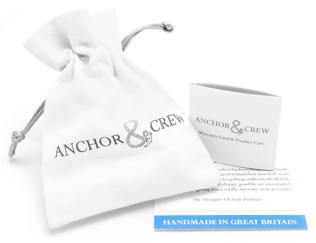Anchor and Crew Padstow Silver and Rope Bracelet - Pink