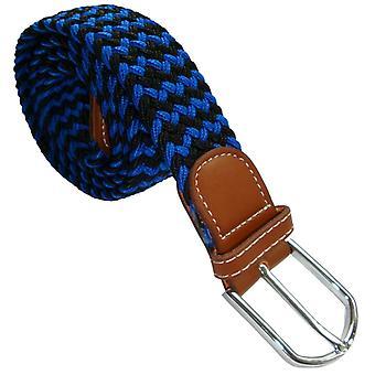 Bassin et marron rayé ceinture tressée élastique - bleu marine/bleu
