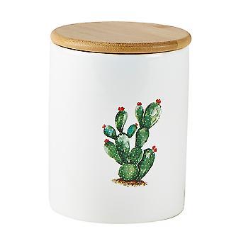 KJ Sammlung Kaktus Lagerung Topf, rote Blüten