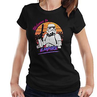Original Stormtrooper Retro dos anos 80 bem-vindo a t-shirt Império feminino
