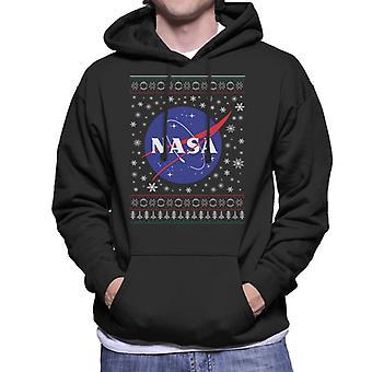 La Insignia clásica la NASA Navidad de punto sudadera con capucha de los hombres