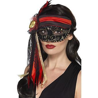 Masquerade Pirate Eyemask, BLACK