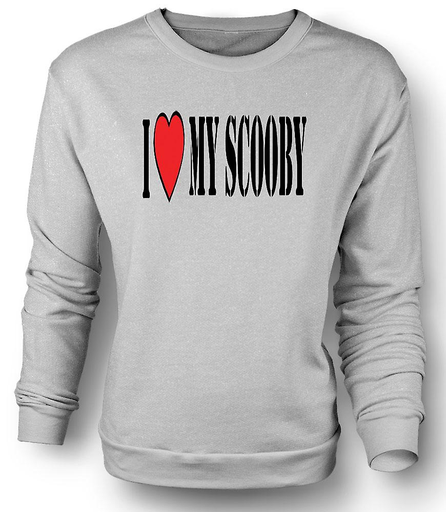 Sweatshirt jeg elsker min Scooby Subaru - bil
