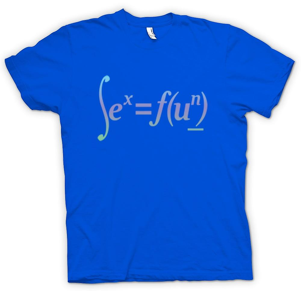 Mens t-skjorte-Sex = Fun - matematiske formelen Design