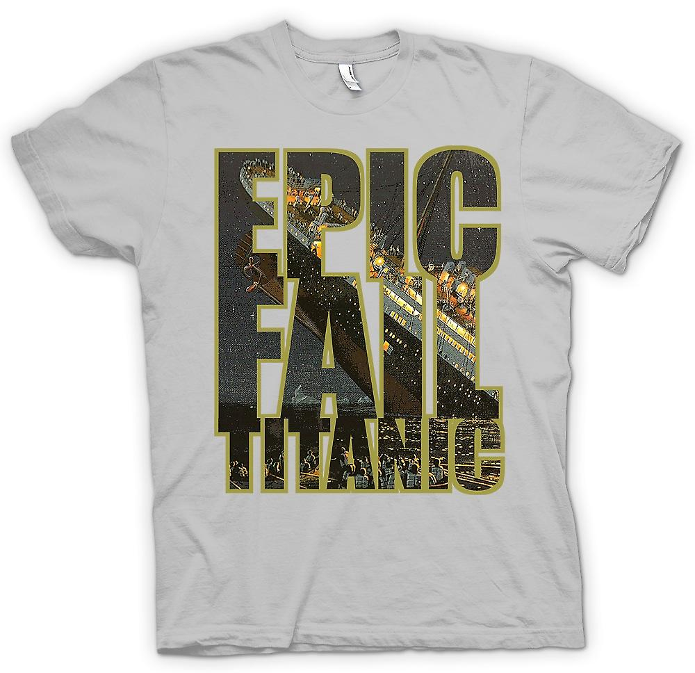 Mens T-shirt - Epic Fail Titanic - Funny