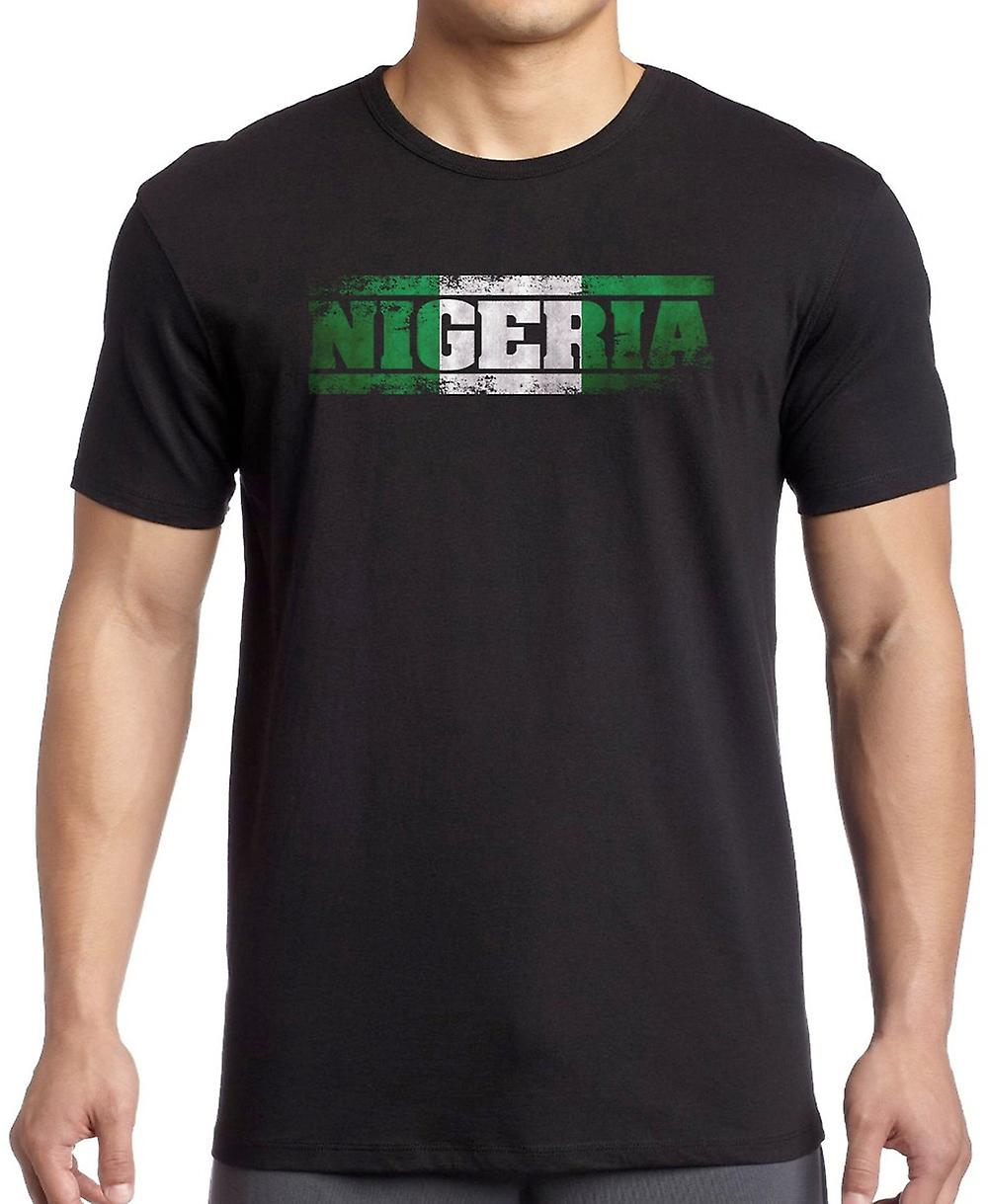 Nigeria Flag - Words Kids T Shirt