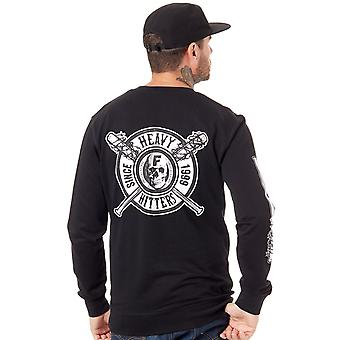 Famous Stars and Straps Black Heavy Hitters Sweater