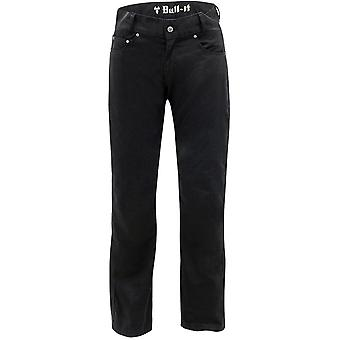 Bull-It Black Carbon SR6 - Regular Motorcycle Jeans