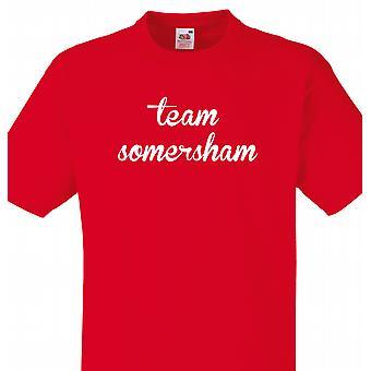 Team Somersham rød T shirt