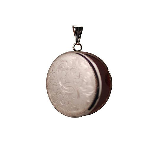 9ct Rose Gold 29mm hand engraved round Locket