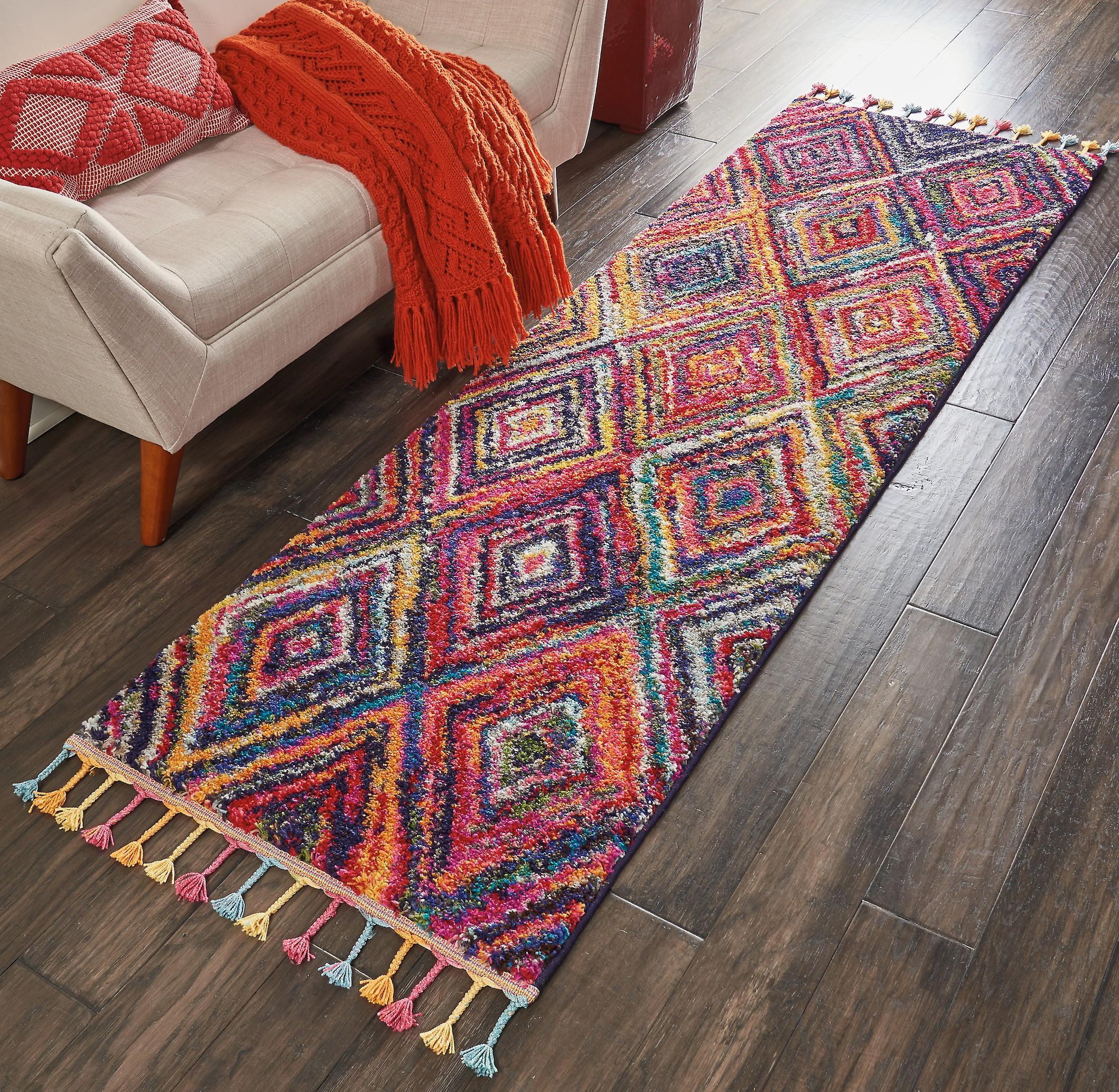 Nomad Nourison NMD01 rouge Multi  courirner Rugs Traditional Rugs