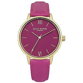 Daisy Dixon Tara Ladies Womens Wrist Watch Gold Dial  Pink Face DD029P
