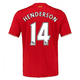 2015-16 Liverpool Home Shirt (Henderson 14)