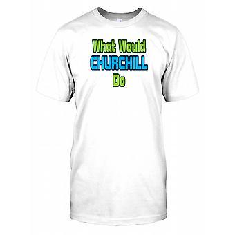 Qué sería de Churchill niños T Shirt
