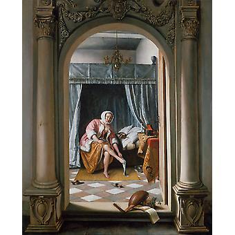Toalettet, Jan Steen, 64,7 x53cm