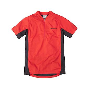 Madison Flame rosso 2015 Trail Kids MTB Jersey manica corta