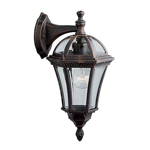 Searchlight 1563 Capri Traditional Outdoor Wall Light In Rustic Brown